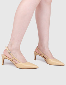 Stylish Pointed Toe Heels (Cornsilk)