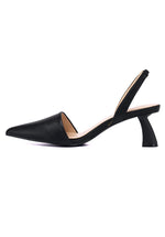 Load image into Gallery viewer, Dale Pointed Toe Heel Shoes (Black)