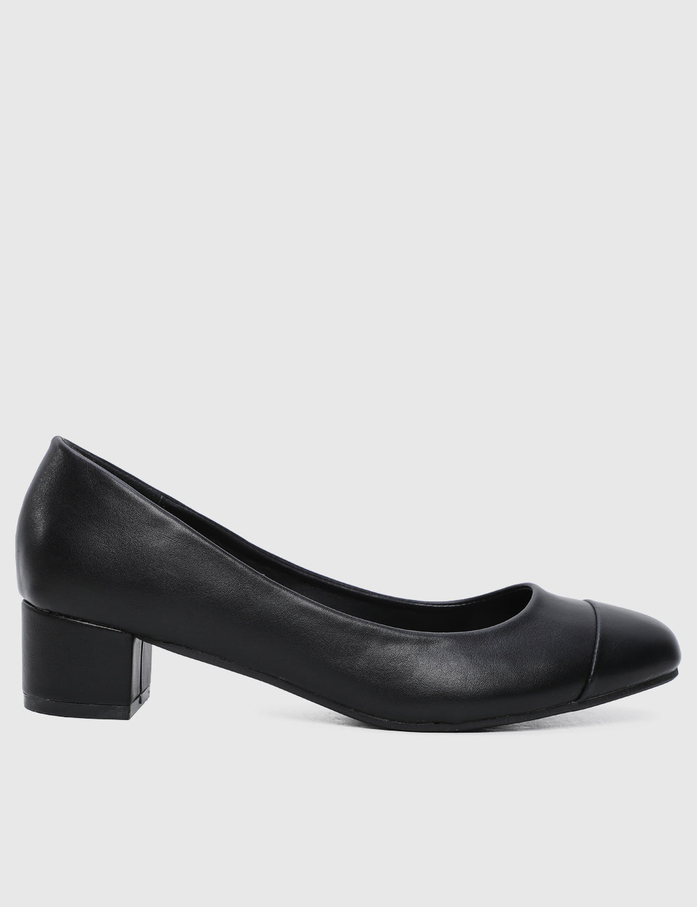 City Girl Rounded Toe Heels (Black)