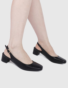 Drama Queen Rounded Toe Heels (Black)
