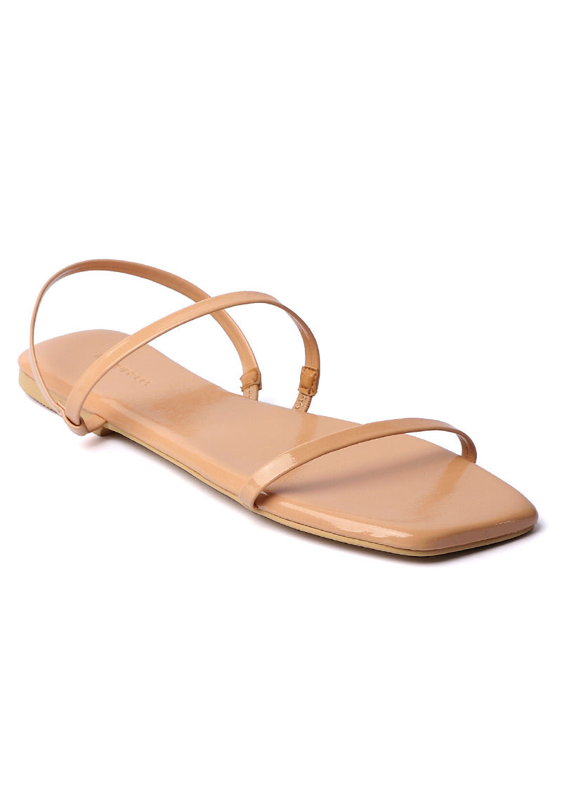 Beauty Square Toe Sandals (Nude)