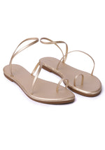 Load image into Gallery viewer, [Pre Order] Zap! Rounded Toe Sandals (Gold)