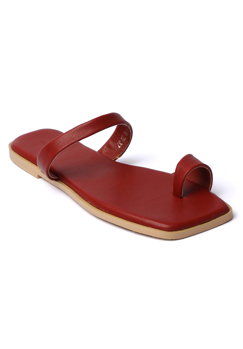 Wonderland Rounded Toe Sandals (Brown)