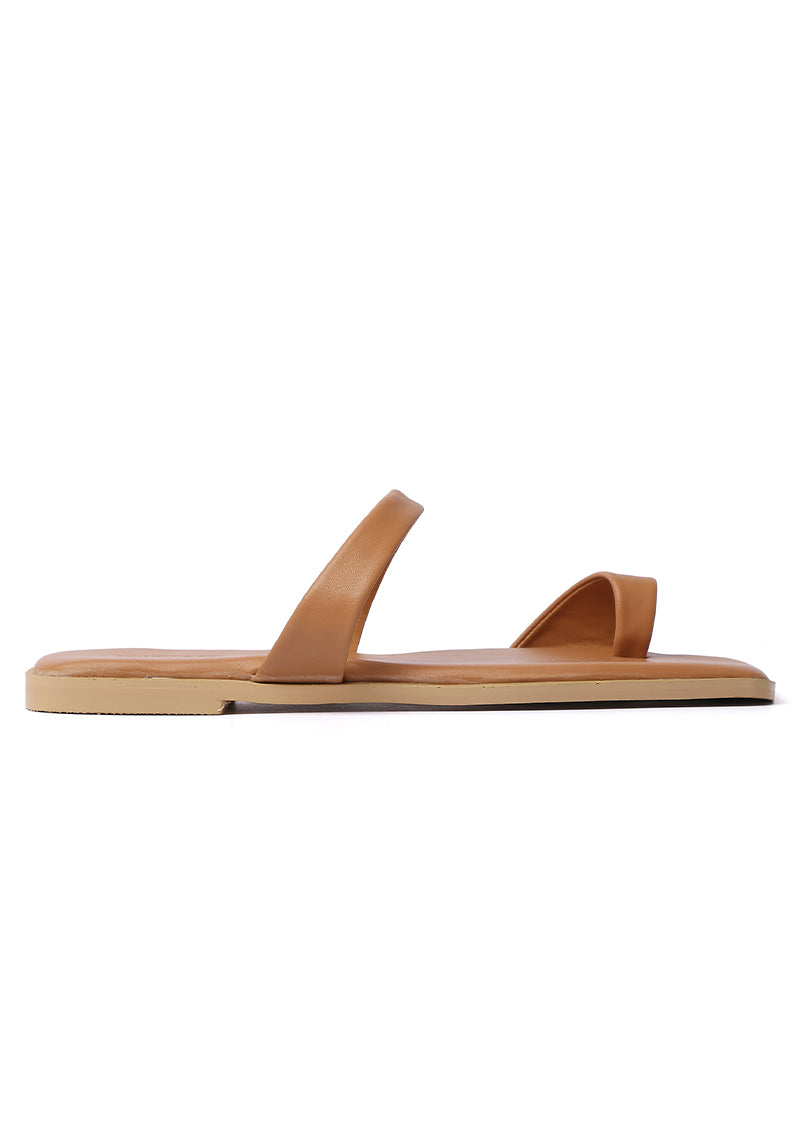 Wonderland Rounded Toe Sandals (Nude)