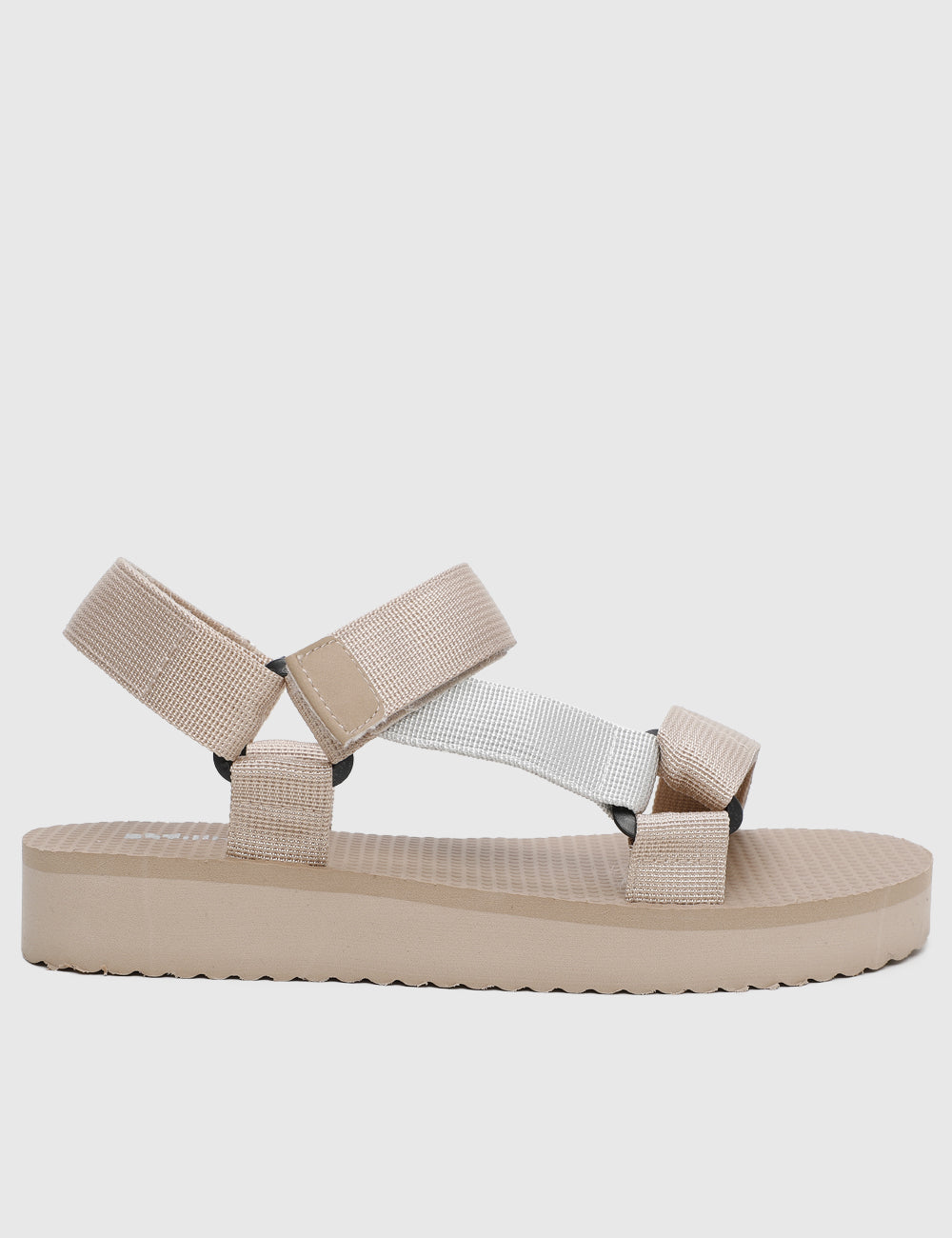 Casual Chic Strap Sandals (Beige)