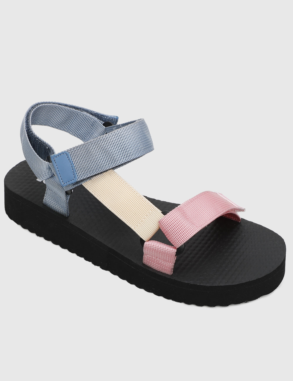 Casual Chic Strap Sandals (Pink)