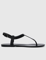 Load image into Gallery viewer, Sweetheart T-Strap Jelly Sandals (Black)