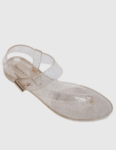 Twinkie T-Strap Jelly Sandals (Nude)
