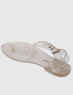 Load image into Gallery viewer, Twinkie T-Strap Jelly Sandals (Nude)
