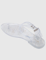 Load image into Gallery viewer, Leona T-Strap Jelly Sandals (Clear)