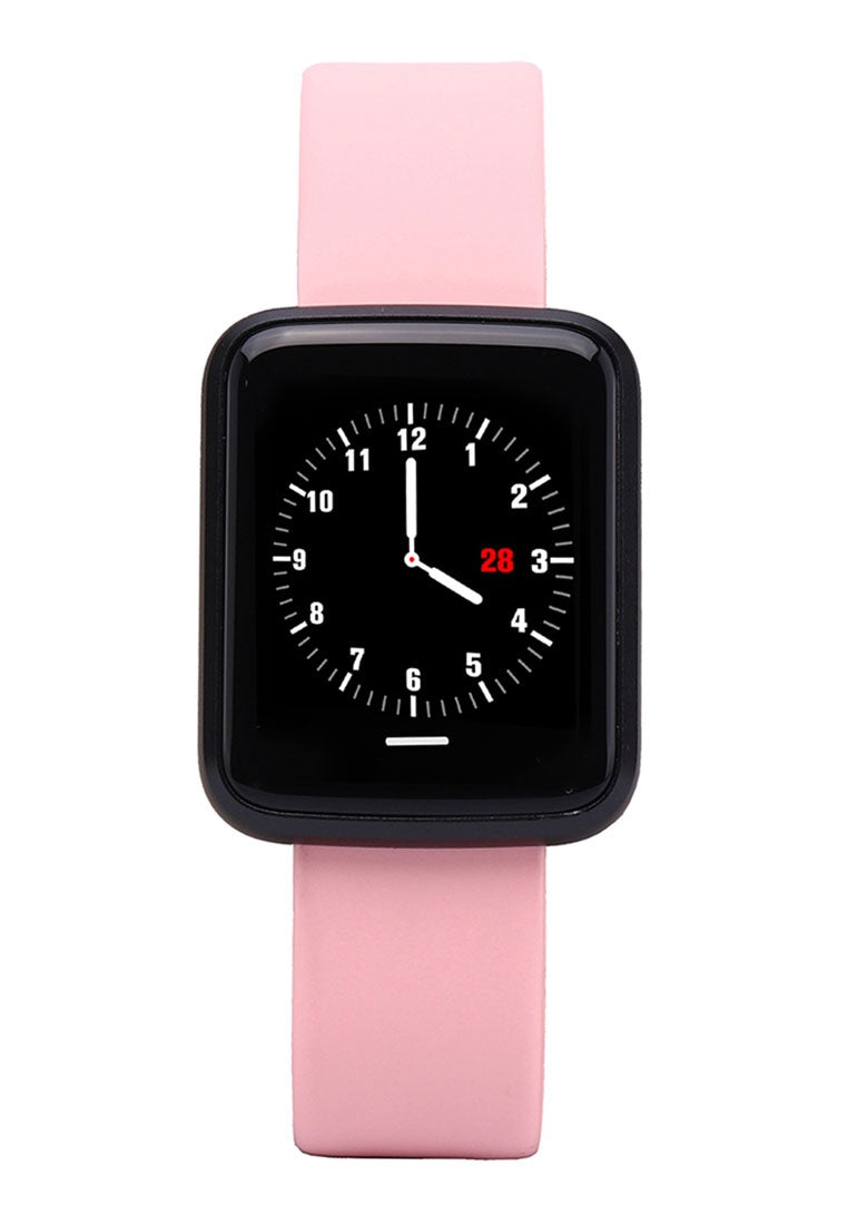 Timothy Smart Watch With 2 Straps - Pink/Black