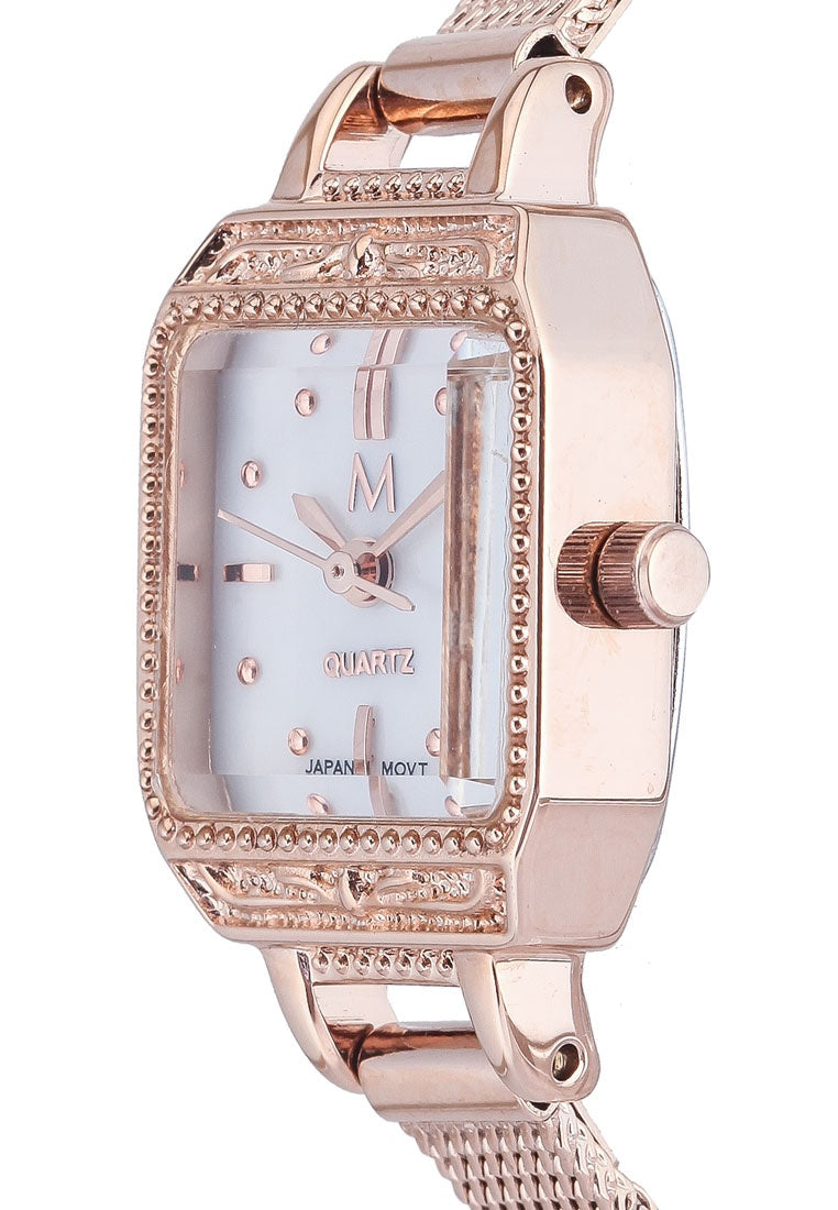 June Rose Gold Watch - Salmon