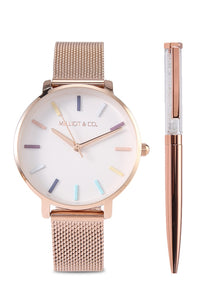Abigail Watch Set (Salmon)