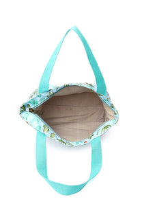 Anne 3 In 1 Top Handle Bag And Small Pouch (Aqua)