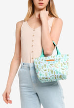 Load image into Gallery viewer, Anne 3 In 1 Top Handle Bag And Small Pouch (Aqua)