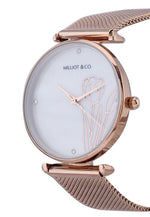 Load image into Gallery viewer, Aria Rose Gold Mesh Strap Watch (Salmon)