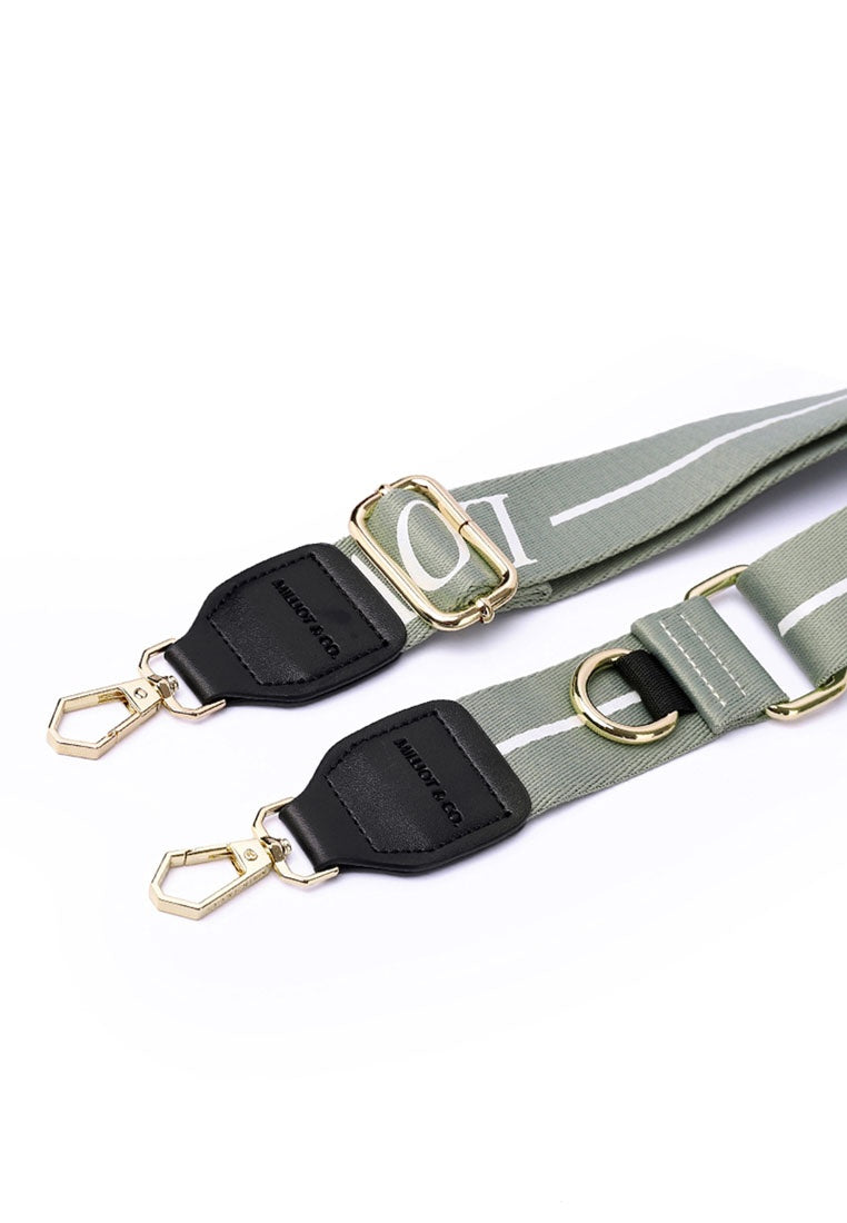 Becky 2 In 1 Message Handbag Straps (Dark Olive Green)