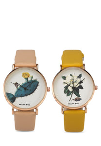 Cassey & Larley Watch Set (2in1) - Pink / Yellow