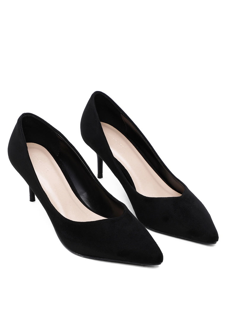 Enchanted Pointed Toe Heels (Black)