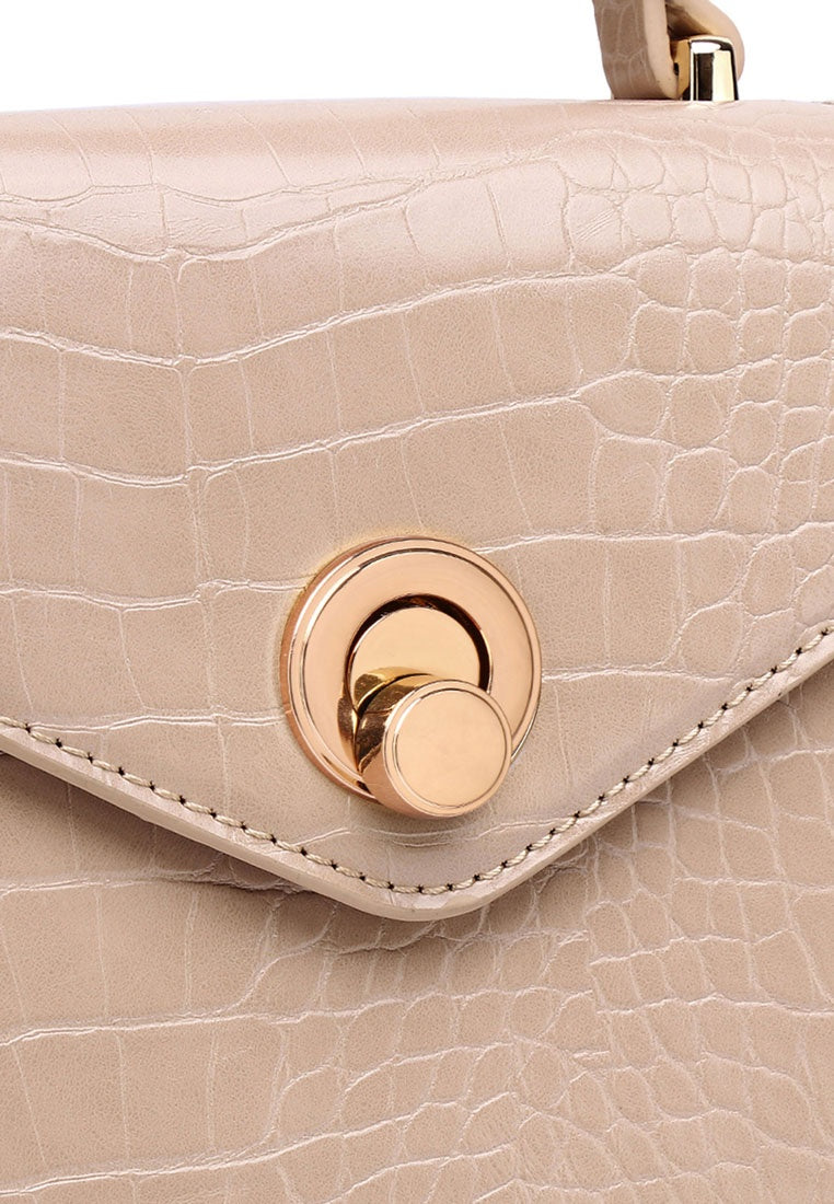 Emily Top Handle Bag - Nude