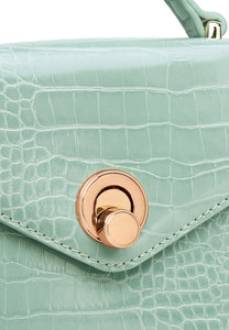 Emily Top Handle Bag - Turquoise