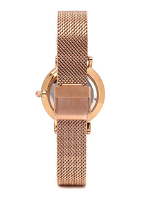 Holly Rose Gold Mesh Strap Watch (Salmon)