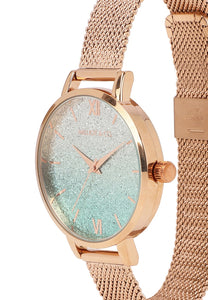 Jacinthe Watch With 2 Straps (Rose Gold/Black)