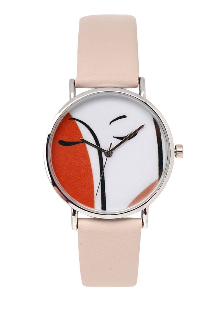 Josie Silver Leather Strap Watch (Thistle)