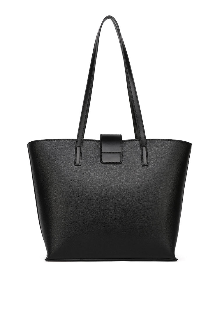 Natalie Tote Bag With Pouch (2in1) - Black