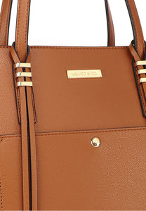 Natasha Tote Bag With Pouch (2in1) - Brown