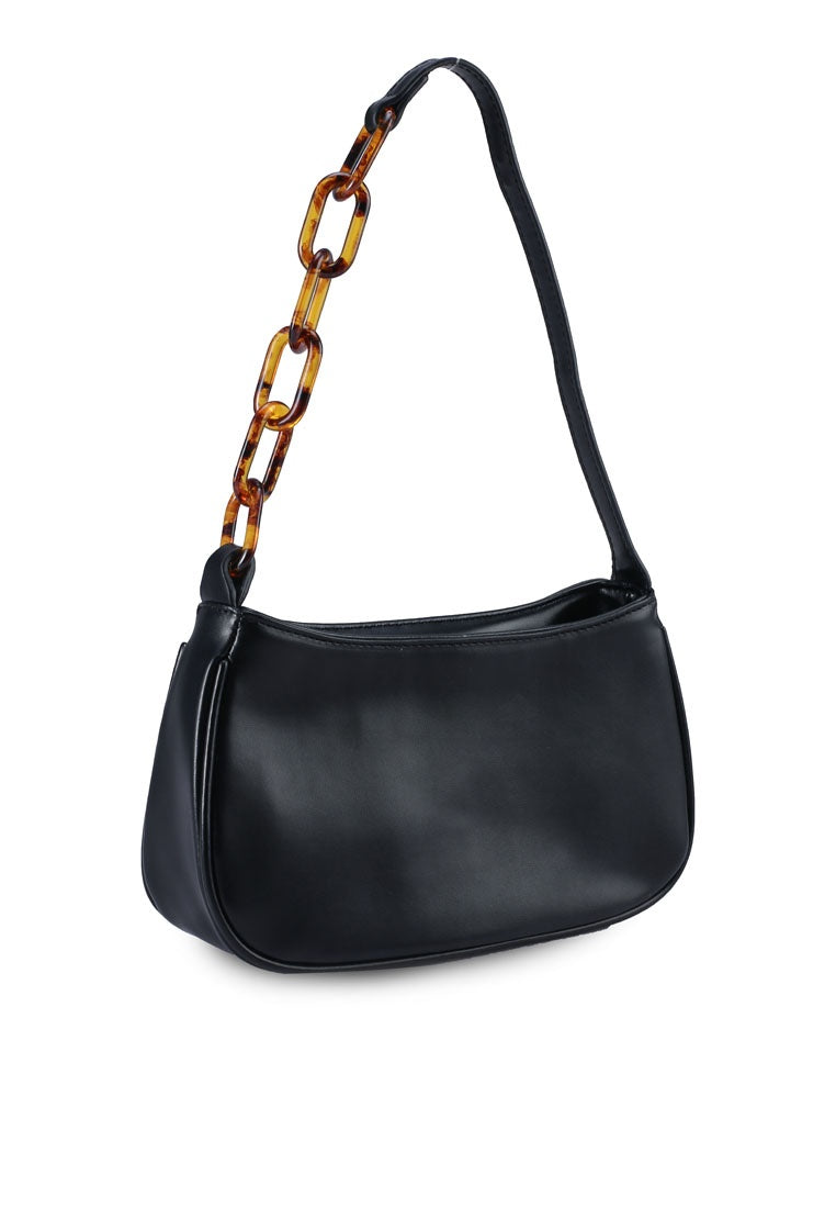 Penelope Baguette Bag (Black)