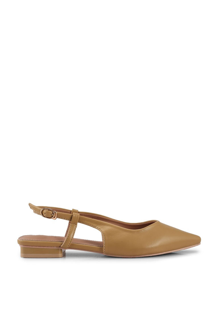 Princess Pointed Toe Flats (Brown)
