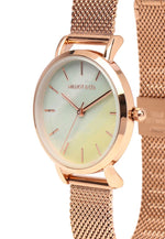 Load image into Gallery viewer, Tinsel Rose Gold Mesh Strap Watch (Salmon)
