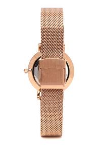 Tinsel Rose Gold Mesh Strap Watch (Salmon)