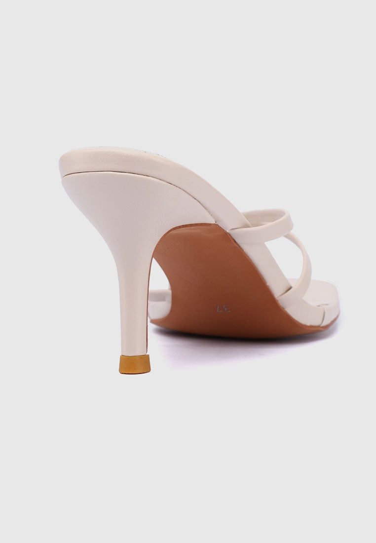 Trendy Thong Heels (White)
