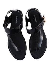 Yummy T-Strap Jelly Sandals (Black)