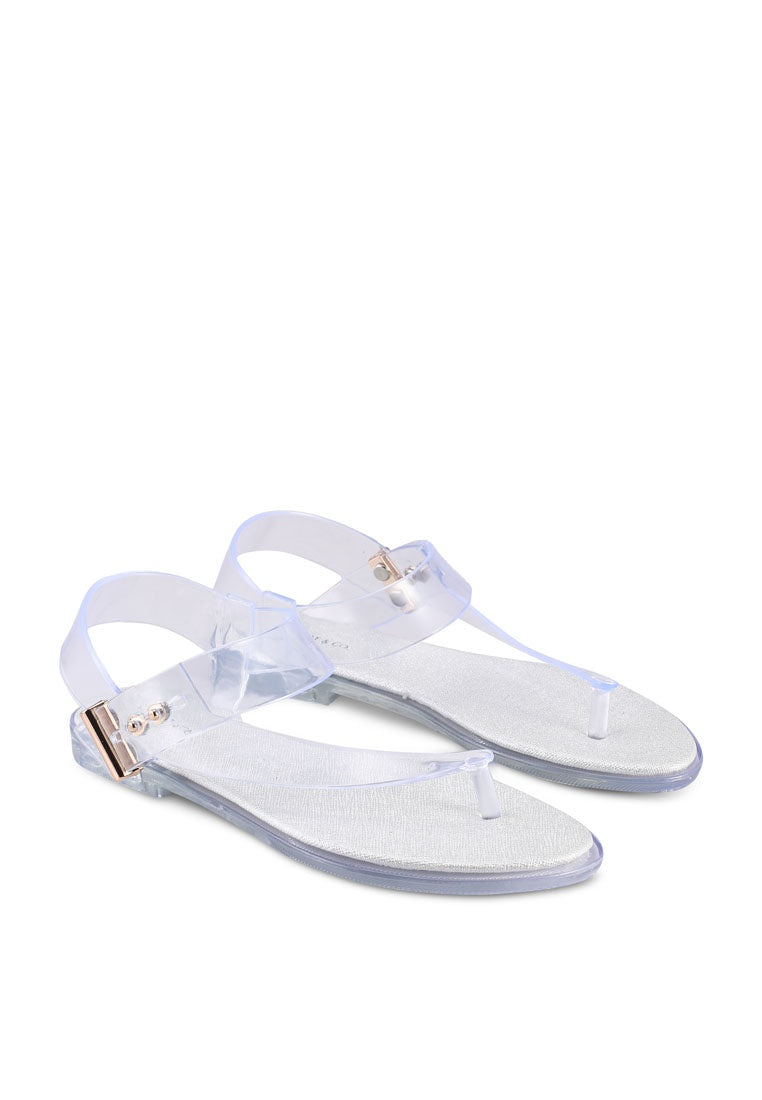 Yummy T-Strap Jelly Sandals (Clear)