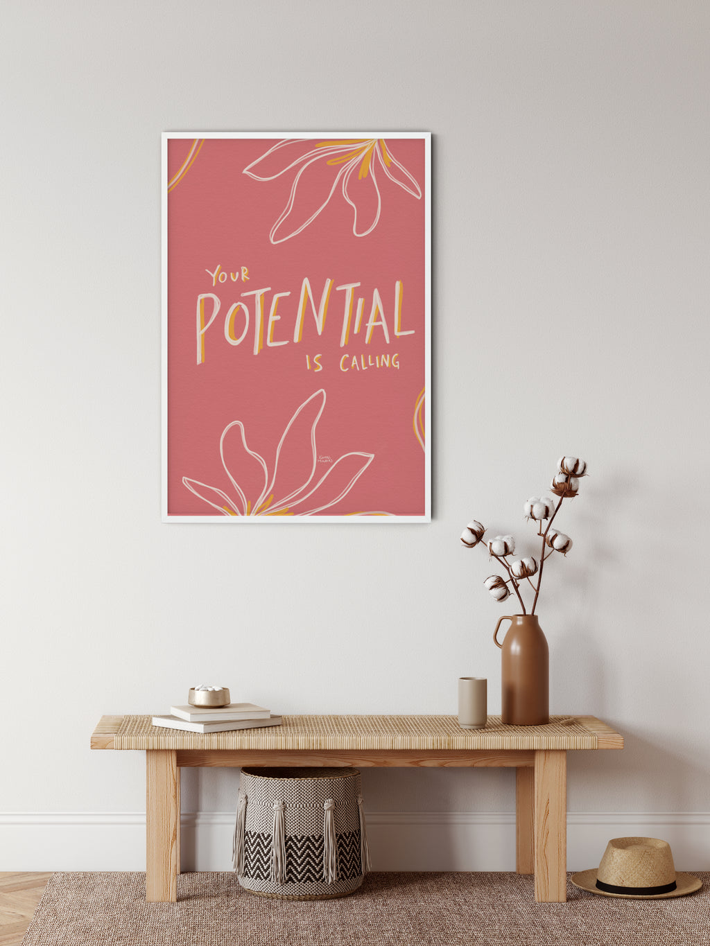 "Framed Print: ""Your Potential Is Calling"" Quote"