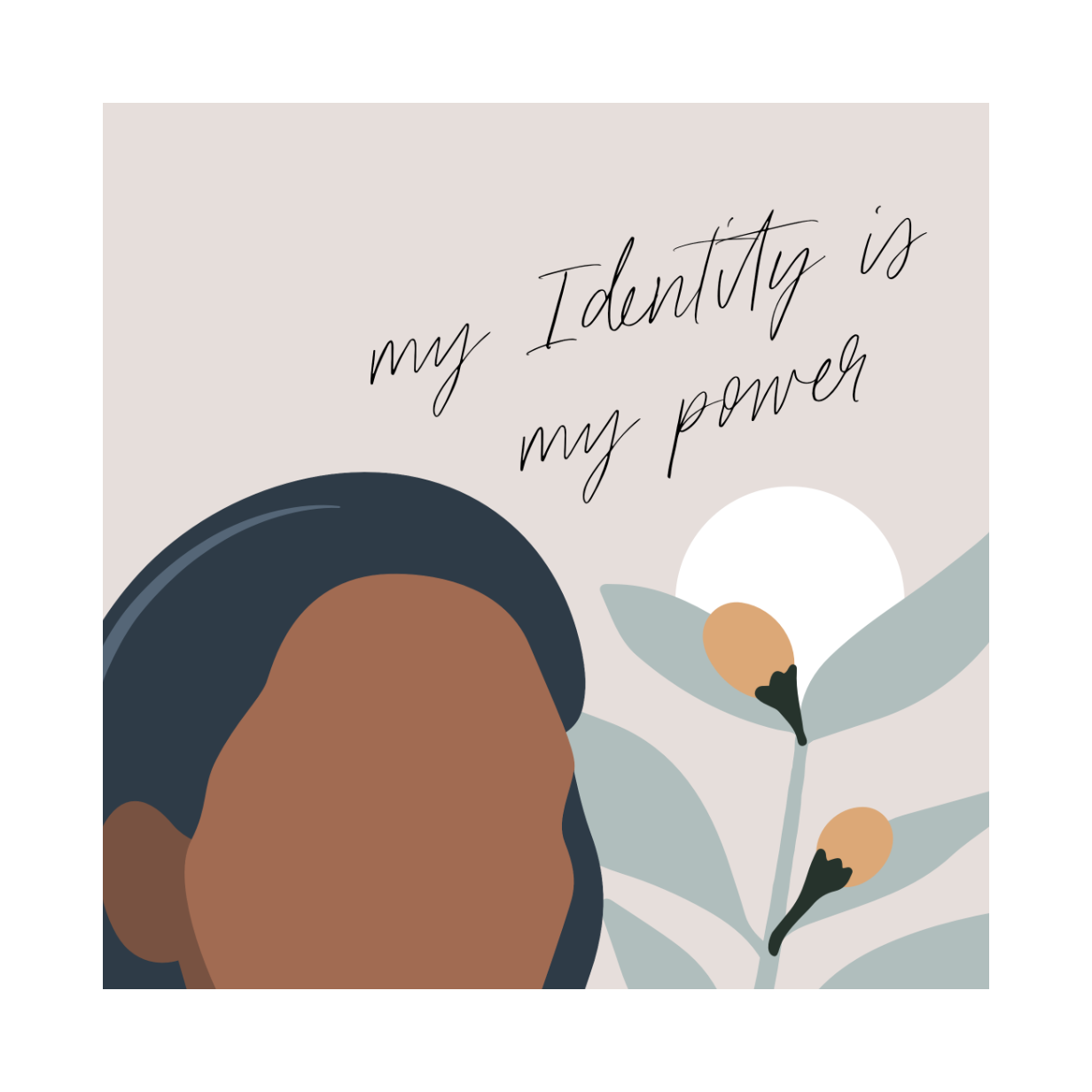 "Framed Print: Identity and Impact Quote (""My identity is my power"")"