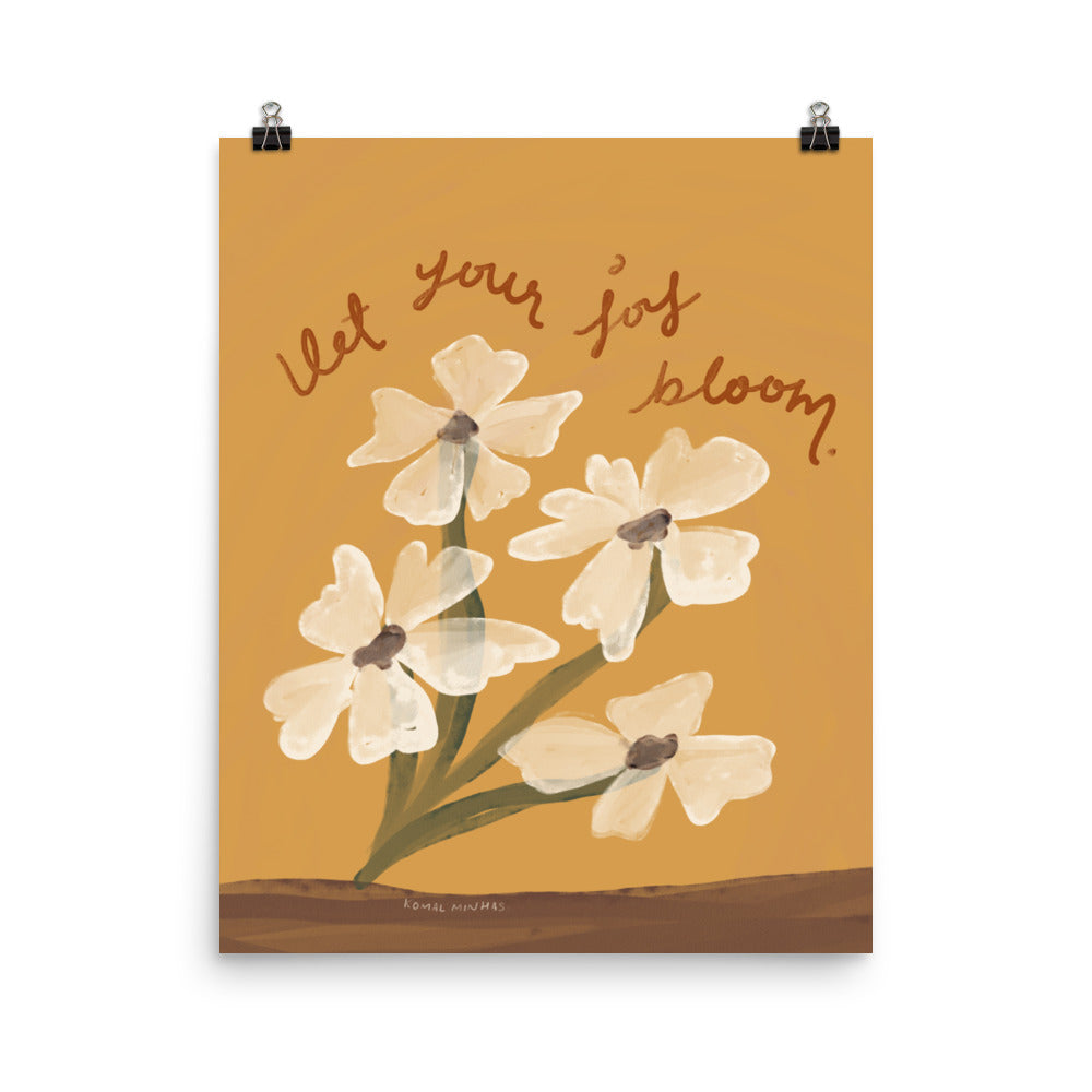 "Print: ""Let Your Joy Bloom"" Quote"