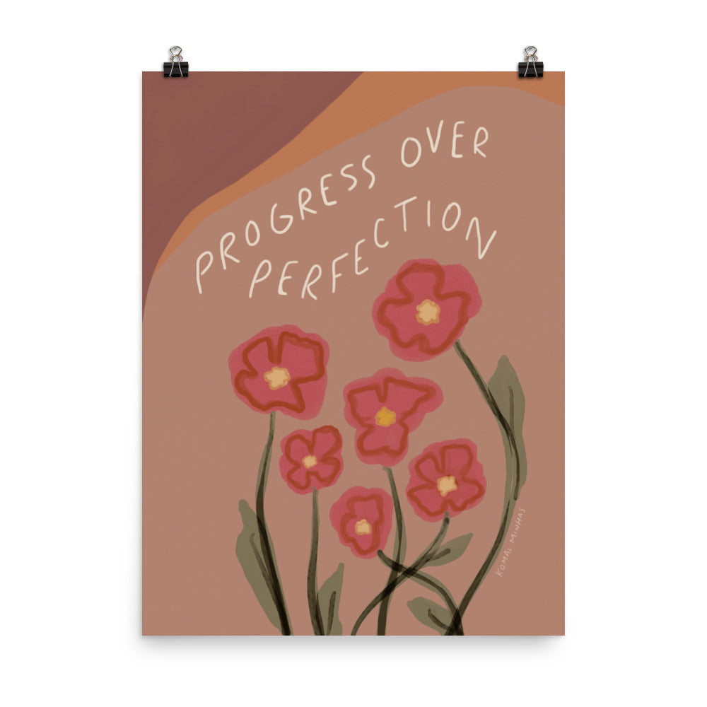 "Print: ""Progress Over Perfection"" Quote"