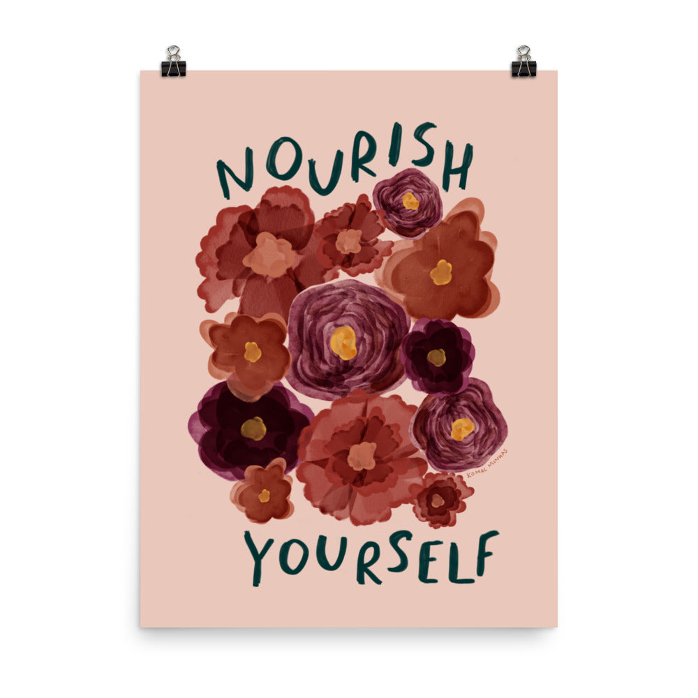 "Print: ""Nourish Yourself"" Quote"