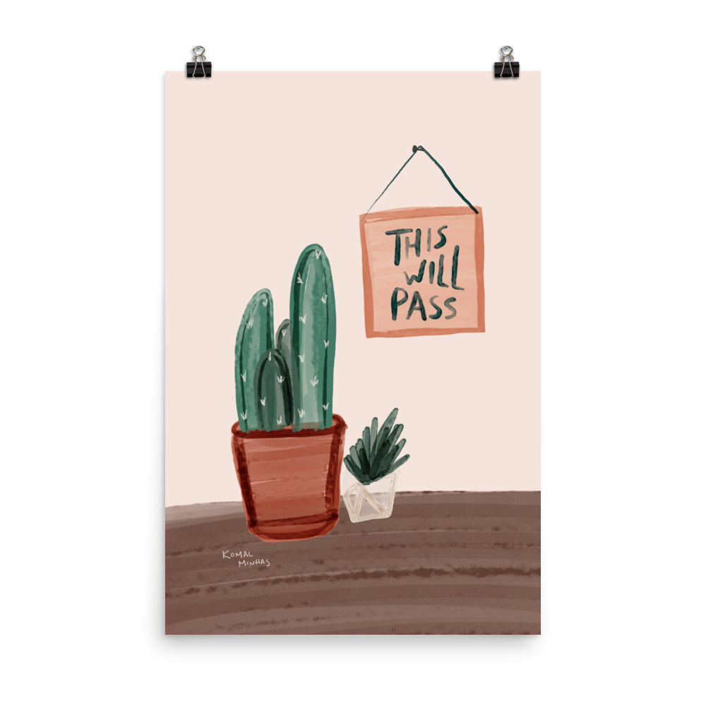 "Print: ""This Will Pass"" Quote"