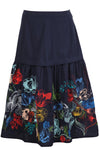 Ivko - Skirt with Floral Embroidery