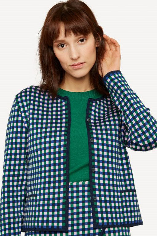 Oleana - Gingham Graph Jacket