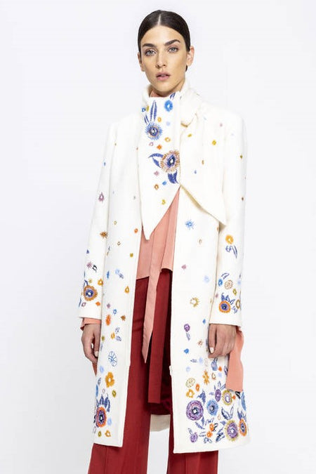 Ivko - Boiled Wool Coat with Embroidery