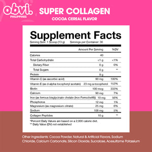 Super Collagen Protein Powder Cocoa Cereal