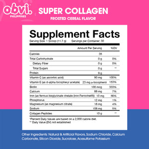 Super Collagen Protein Powder Frosted Cereal