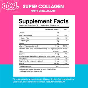 Super Collagen Protein Powder Fruity Cereal