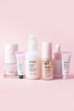 Glossier's best-selling skincare in travel-friendly sizes